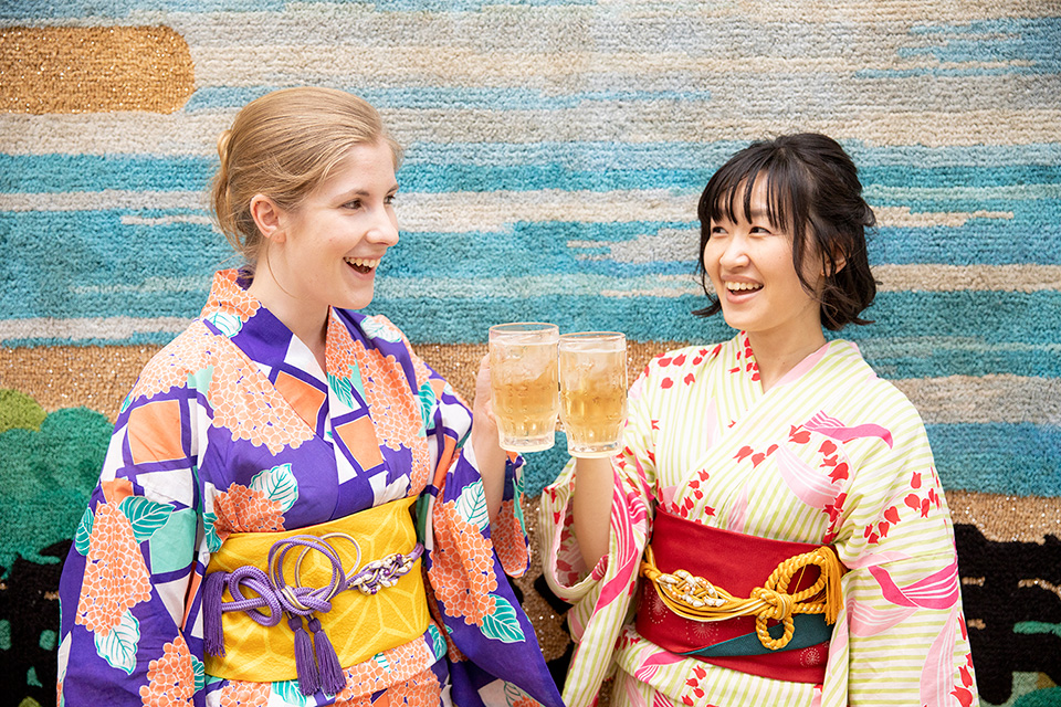 【Limited on Thursday, Friday, Saturday】Yukata set with beer hall ticket