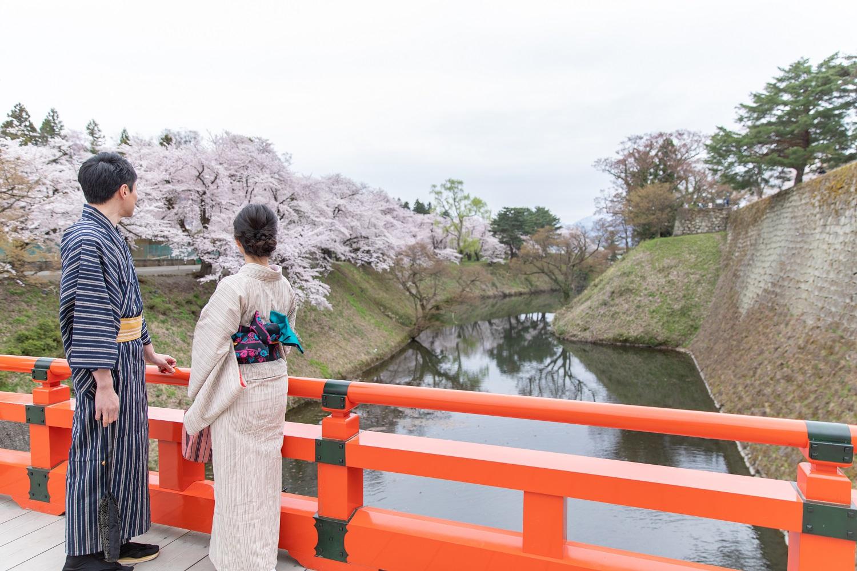 【通年】着物de鶴ヶ城散策♪会津木綿ショートプラン(3時間コース)